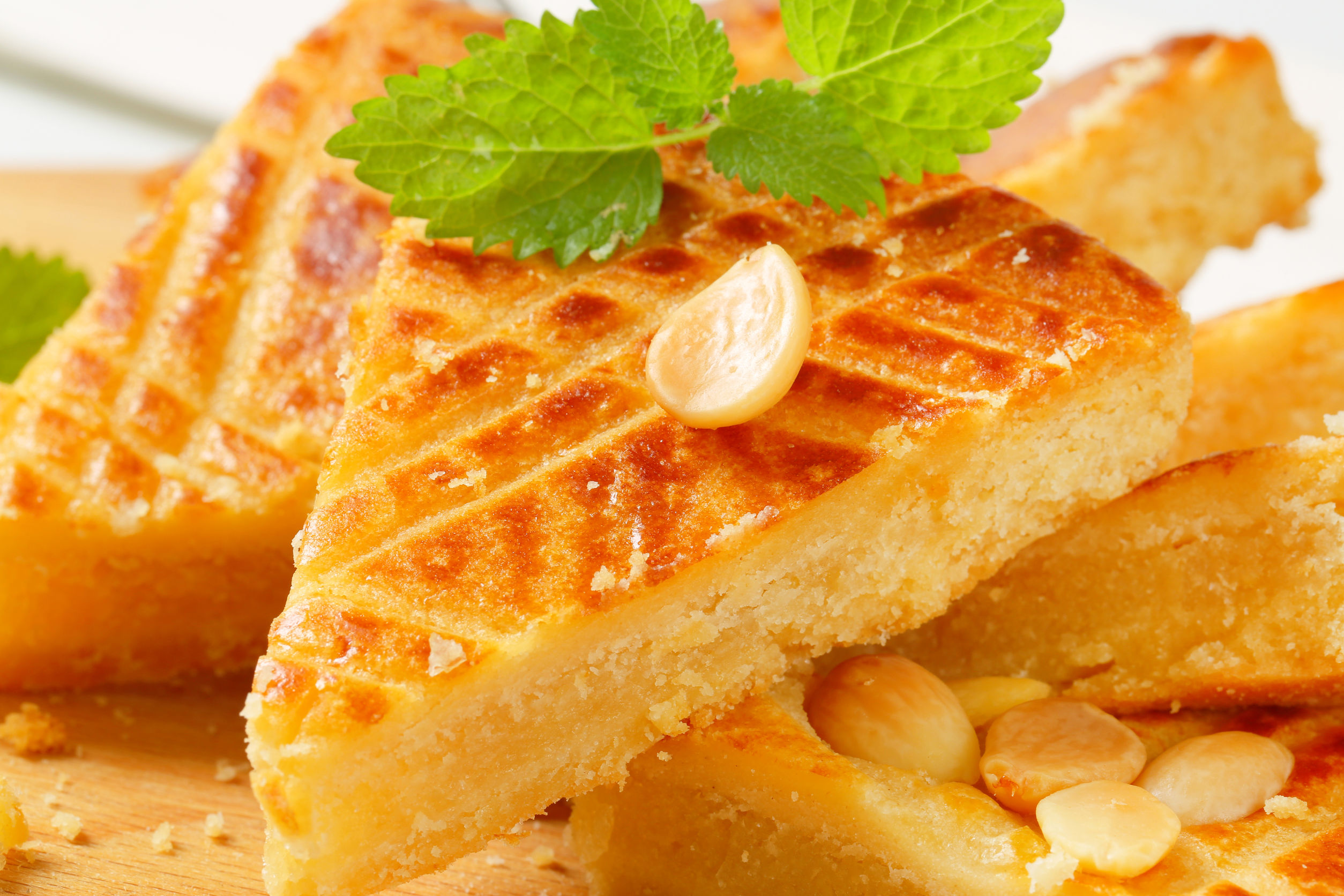 Slices of Dutch Almond Butter Cake (Boterkoek)