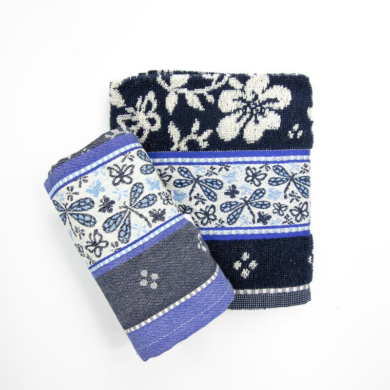 Theedoek-handdoek-blauw-bloemen-insecten-hoekje-giessenburg-graanbuurt