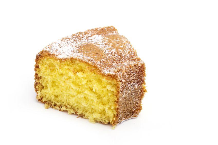 16450932 - slice of cake isolated on white background
