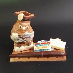 chocolade geslaagd vader school